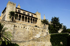Almudaina Palace in Palma de Mallorca. Tower at the Almudaina Palace in Palma de Mallorca, Spain Stock Photo