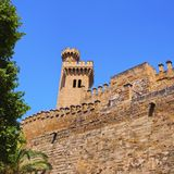 Almudaina Palace in Palma of Majorca. Palau de la Almudaina - palace in Palma de Mallorca, Balearic Islands, Spain Royalty Free Stock Images