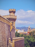 Almudaina Palace in Palma of Majorca Stock Photos