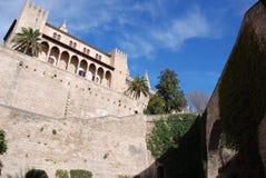 Almudaina Paleis van Palma DE Mallorca Royalty-vrije Stock Fotografie