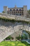 Almudaina& x27; s-slott i Mallorca & x28; Spain& x29; Arkivbilder