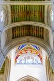 Almudena大教堂五颜六色的天花板  免版税库存图片