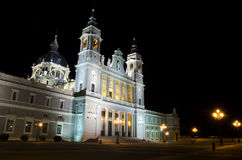 Almudena大教堂在马德里 免版税库存图片