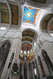 Almudena大教堂,在马德里,西班牙 库存照片