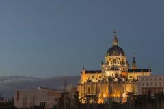 Almudena大教堂,马德里 免版税库存照片