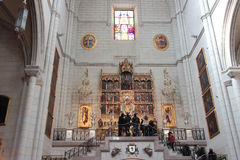 Almudena Cathedral Stock Photo
