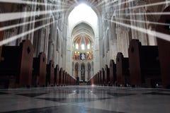 Almudena Cathedral Stock Image