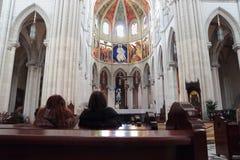 Almudena Cathedral Fotografie Stock Libere da Diritti