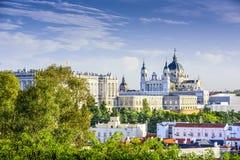 Almudena Cathedral av Madrid, Spanien Fotografering för Bildbyråer
