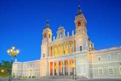 Almudena Cathedral Catedral de Santa Maria la Verklig de la Almude Arkivbild