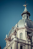 Almudena Cathedral - catholic church in Madrid, Spain. Beautiful Royalty Free Stock Photography