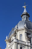 Almudena Cathedral - catholic church in Madrid, Spain.  Royalty Free Stock Photography