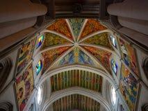 Almudena Cathedral Ceiling Fotografia Stock Libera da Diritti