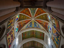 Almudena Cathedral Ceiling Royalty Free Stock Photography