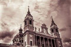 Almudena Cathedral de Madrid Photo stock