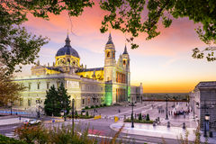 Almudena Cathedral di Madrid Fotografie Stock