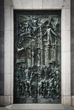 Almudena Cathedral door. In closed up Stock Photo