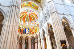 Almudena cathedral inside Royalty Free Stock Photo
