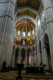 Almudena cathedral interior Stock Images
