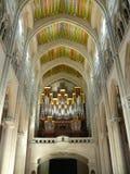 Almudena Cathedral interno a Madrid, Spagna Fotografia Stock Libera da Diritti