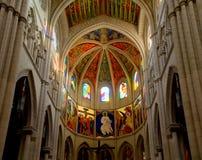 Almudena Cathedral, Madri fotos de stock royalty free