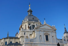Almudena Cathedral in Madrid. Royalty Free Stock Photo