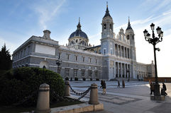 The Almudena Cathedral in Madrid Stock Image