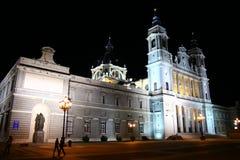 Almudena Cathedral a Madrid Fotografia Stock Libera da Diritti