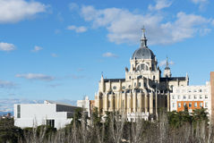 Almudena Cathedral, Madrid Fotografia Stock