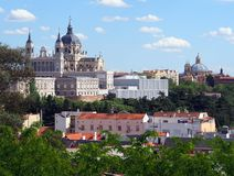 Almudena Cathedral, Madrid Royalty Free Stock Images