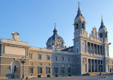 Almudena cathedral Madrid church Stock Images