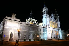 Almudena Cathedral in Madrid Royalty Free Stock Photography