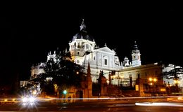 Almudena Cathedral in Madrid. Stock Images