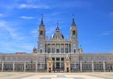 Almudena Cathedral a Madrid Spagna Fotografia Stock