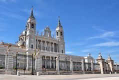 Almudena Cathedral a Madrid Spagna Immagini Stock