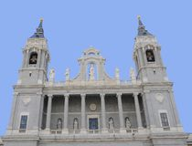 Almudena Cathedral, Madrid, Spain Stock Image