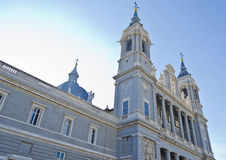 Almudena Cathedral in Madrid - Spain. Catedral de l'Almudena in the spanish capital city of Madrid Royalty Free Stock Images