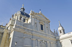 Almudena Cathedral in Madrid - Spain. Catedral de l'Almudena in the spanish capital city of Madrid Stock Image