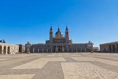 Almudena Cathedral at Madrid Spain Royalty Free Stock Image
