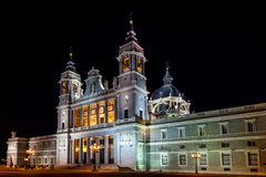Almudena Cathedral at Madrid Spain Royalty Free Stock Photos