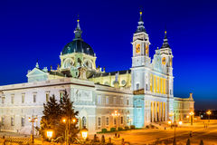 Almudena Cathedral of Madrid Stock Photography