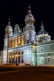 Almudena Cathedral at Madrid Spain Stock Image