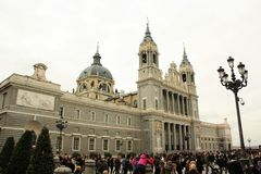 Almudena Cathedral in Madrid, Spain Stock Images