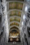 The Almudena cathedral in Madrid, Spain Royalty Free Stock Image