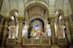 The Almudena cathedral in Madrid, Spain Stock Photography