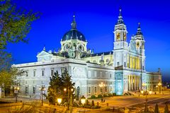 Almudena Cathedral of Madrid, Spain Stock Image