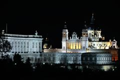 The Almudena cathedral in Madrid, Spain Stock Photos