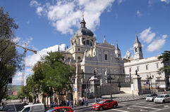 Almudena Cathedral, Madrid Stock Photos