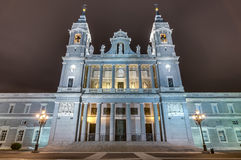 Almudena cathedral in Madrid, Spain. Royalty Free Stock Photography