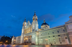 Almudena cathedral in Madrid, Spain. Royalty Free Stock Image